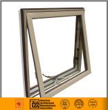 Ventana de cristal de aluminio del toldo del color de madera