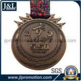 リボンが付いている顧客の形の高品質の金属の硬貨