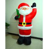 Tessuto il Babbo Natale gonfiabile di natale del LED per la decorazione
