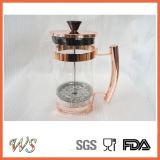 Générateur de café chaud de presse de café d'acier inoxydable de vente de presse de Français du Rose-Or Wschsy010