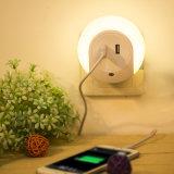 형식 LED 이동 전화 정제 PC를 위한 가벼운 이중 USB 벽 충전기