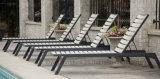 Стул салона фаэтона алюминиевого стога Polywood напольный с регулируемой задней частью для пляжа палубы гостиницы