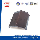 標準的な屋根ふきの平らなタイプ粘土の屋根瓦中国製265*390mmの上の販売