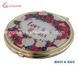 Espejos de oro maquillaje compacto para Lady