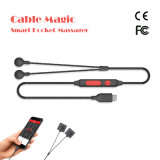 Cuello de Shiatsu del cable y Massager Handheld de amasamiento eléctricos mágicos del hombro