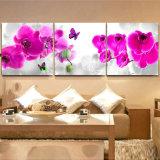 安いHDは居間の蝶花の絵画映像のキャンバスプリントを印刷した
