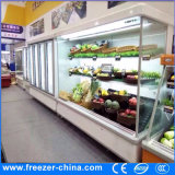 Refrigerador remoto de Multideck Displayu do compressor para o vegetal e as frutas