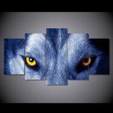 HD ha stampato la tela di canapa Mc-016 della maschera del manifesto della stampa della decorazione della stanza di stampa della tela di canapa di pittura del gruppo degli occhi del lupo