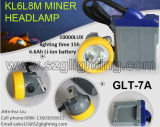 IP68 크리 사람 3W 220lm 15000lux Headlamp, 광부의 Caplamp