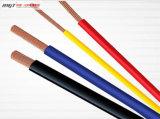 alambre eléctrico que tuerce flexible aislado PVC de cobre del conductor 300/300V
