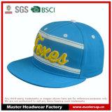 шлем Snapback Brim хлопко-бумажная ткани 5-Panel плоский с вышивкой 3D