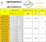 S08k-Stucr/L09h09 voor Staal Hardmetal die de Standaard het Draaien Boorstaaf van Hulpmiddelen aanpassen