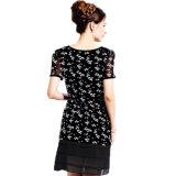 Plusgrößen-Frauen Chiffion Kleid-moderner Sommer-neue Kleid-Auslegung