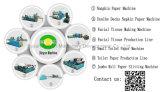 Volle automatische kleine Toilettenpapier-Rolle, die maschinelle Herstellung-Zeile bildet