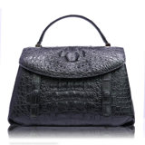 Bolso de totalizador del hombro de la maneta de la tapa de señora Handbag Genuine Crocodile Leather