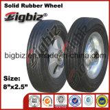 8X2.5 ruedas de caucho sólido de papelera