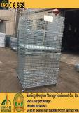 Cuatro caras de alambre de malla Cargo rollo de contenedores de almacén de palets de almacenamiento en rack