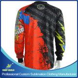 La sublimation sublimée par coutume folâtre de longs Jersey de moto de douille