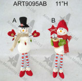 """24 """" H Santa diritta a base di legno Snowman-2asst. - Decorazione di natale"""