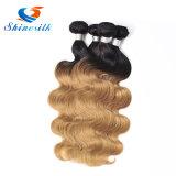 8A Ombreのペルーのバージンの毛ボディ波の金髪