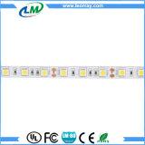 luz flexible de la cubierta de la tira de 5050 blancos LED