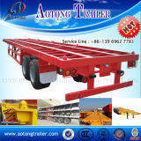 40ft Tri Axle Flatbed Semi Trailer per Container Transportation