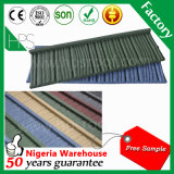 Da pedra natural da areia do fabricante de Guang Zhou telha de telhado revestida do metal