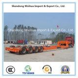 De Lowbed reboque do caminhão Semi com os 4 eixos da manufatura do chinês