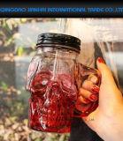 Spaß-Schädel-Halloween-trinkendes Maurer-Glasglas mit Griff