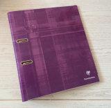 3 pulgadas de papel de mármol de color rosa de archivo de palanca de arco