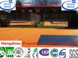 ISO, CER bunter modularer sperrender verschobener pp. Sport-Fußboden