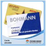 주문 인쇄 Cr80 플라스틱 PVC 선물 카드