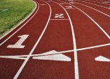 trilha Running plástica respirável de 13mm, pista de decolagem
