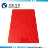 Piastrina rossa gialla glassata della plastica del policarbonato della Gemellare-Parete