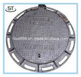Couverture de trou d'homme d'égout malléable du fer En124 B125/grille rondes de caniveau