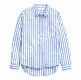 Кофточка рубашки втулки горячей нашивки хлопка длинняя для повелительниц (SH-27)