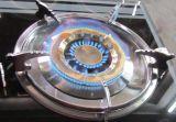 Doppia stufa di gas superiore di vetro elegante del bruciatore
