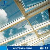 O vidro desobstruído de Clolored/leite/vidro laminado branco/moderou o baixo vidro laminado moderado de vidro laminado de E/vidro laminado à prova de balas endurecido colorido