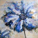Fleur décorative bleue