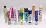 Tube compressible en aluminium de pâte dentifrice crème médicale d'onguent d'oeil d'emballage des médicaments