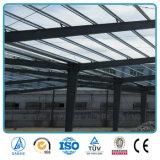 Bâti préfabriqué de l'espace d'entrepôt de structure métallique de poutre en double T de soudure