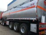 Petrolero de acero 60, 000 litros del combustible del transporte del petróleo de 4 árboles semi de acoplados