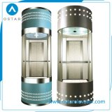 Sin sala de máquinas de carrera completa de cristal Sightseeing Ascensor Panorámico de cabina (OS41)