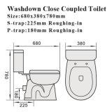 Toalete cerâmico dos mercadorias sanitários padrão australianos do armário de água (8008)