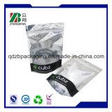 Validar los bolsos plásticos de encargo del embalaje con el bloqueo de la cremallera