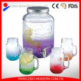 Оптовый квадратный стеклянный распределитель напитка с краном