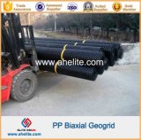 Plástico PP Geogrid biaxial similar a Tensar Bx1200