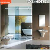 4-19mmのシルクスクリーンプリントか酸の腐食かかホテルの浴室、シャワーの諸室戸スクリーン機構およびホームのためのパターンそして明確な安全ガラスCe/SGCC/ISOと曇らされて