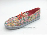Schoenen van het Canvas van het comfort de Rubber Bloemen Afgedrukte voor Dame (et-LH160307W)