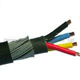 低電圧4のコア鋼線の装甲電源コード
